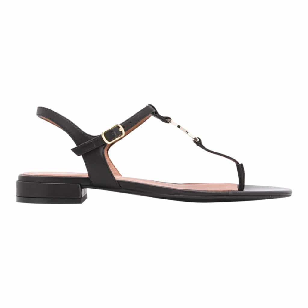 Emporio Armani Flad Læder Sandal