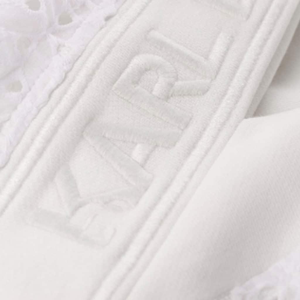 Karl Lagerfeld Hvid Sweat Med Detaljer