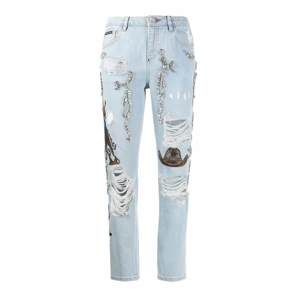 Philipp Plein Boyfriend Cowboy Jeans