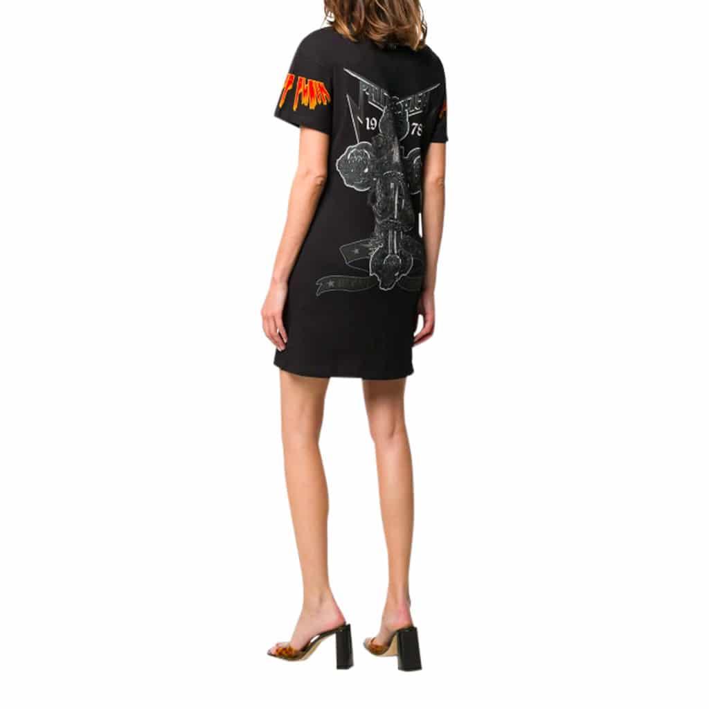 Philipp Plein Rock SS Sort kjole T-shirt