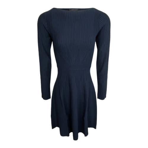 Emporio Armani blå strik kjole