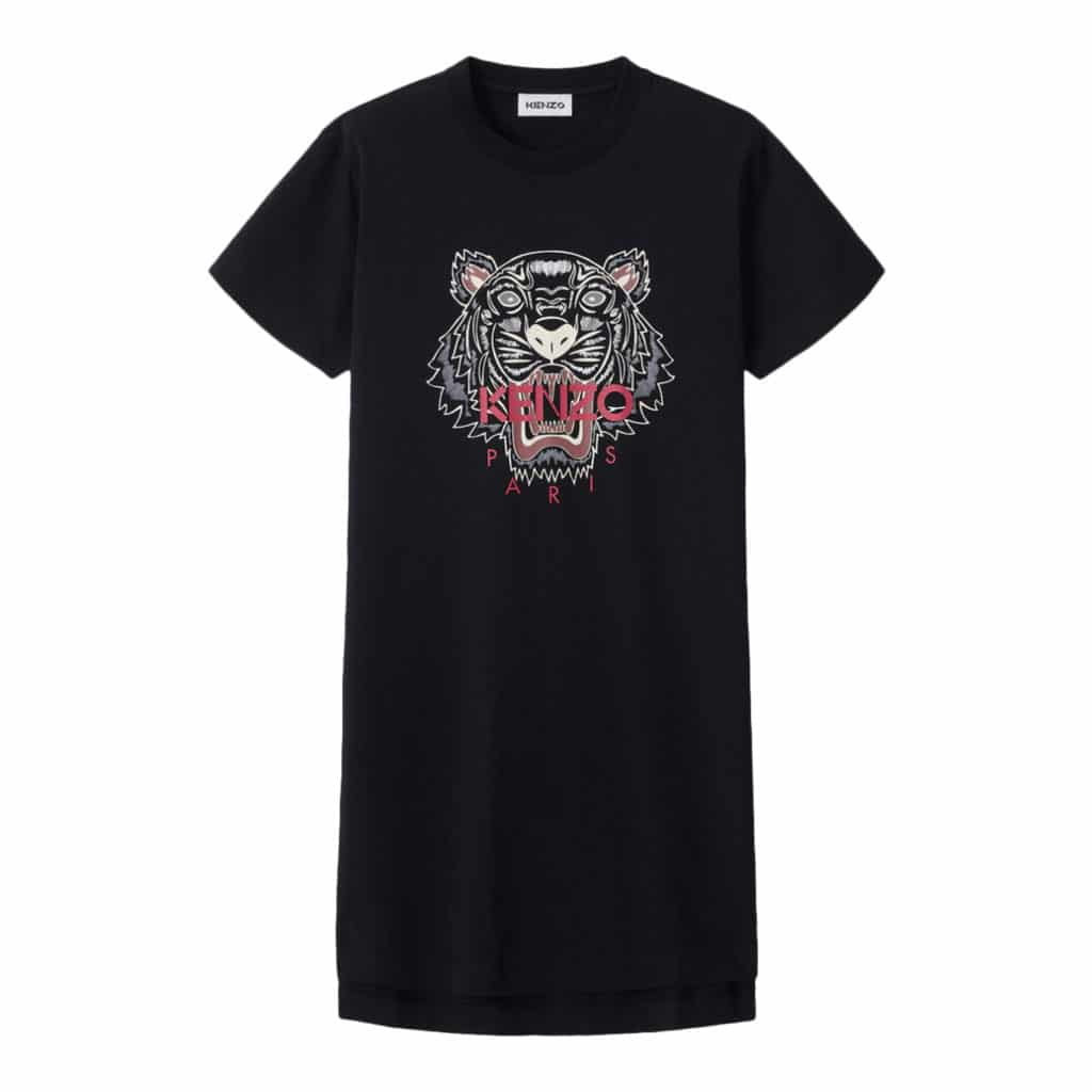 Kenzo sort T-shirt  Kjole