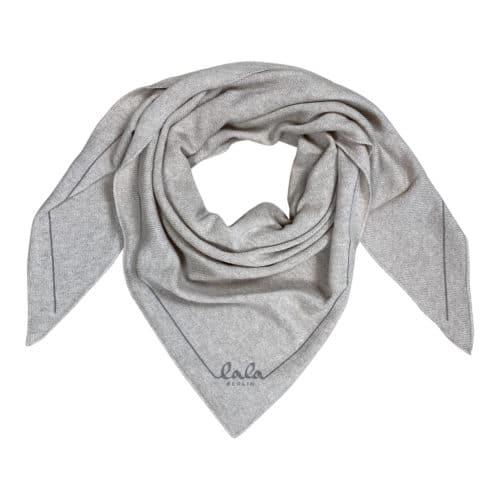 Lala Berlin Triangle Solid Logo M Dune Tørklæde