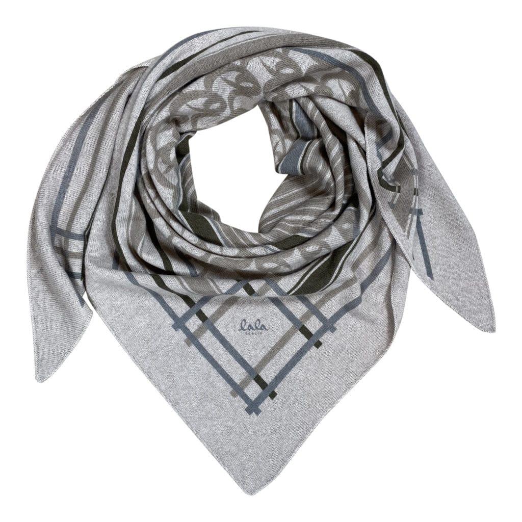 Lala Berlin Triangle Stripe Monogram M Tørklæde