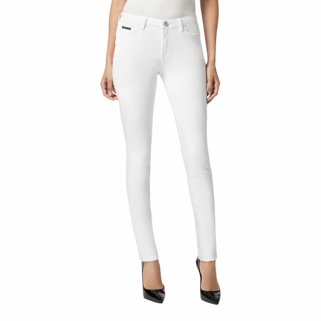Philipp Plein Slim Fit Jeans Hvid