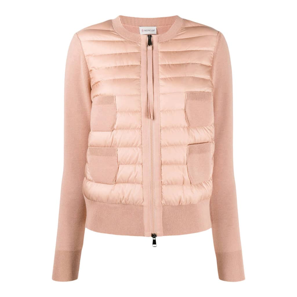 Moncler Dusted Pink Cardigan