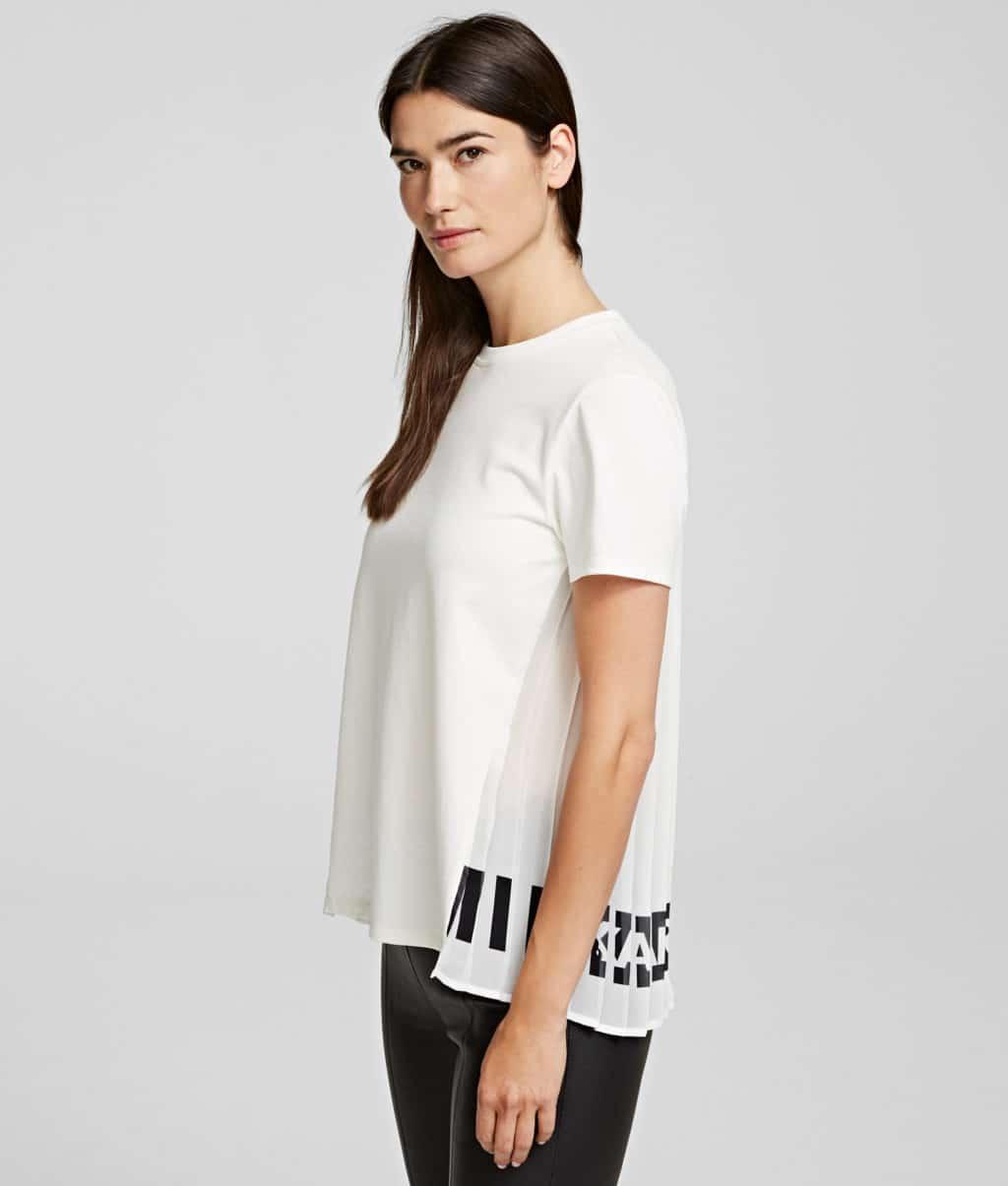 Karl Lagerfeld Plisse T-Shirt