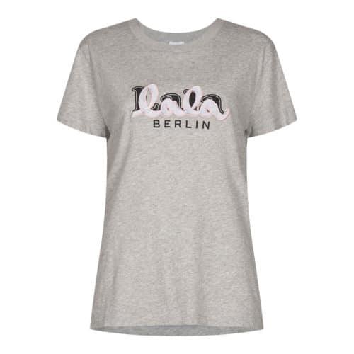 Lala Berlin grå T-shirt Cara Embriodery