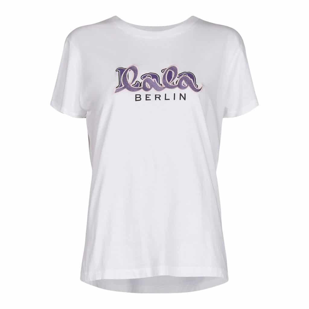 Lala Berlin Cara Hvid Embriodery T-shirt