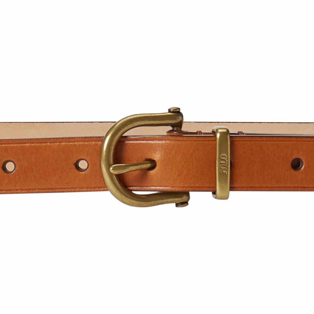 Polo Ralph Lauren Skinny Brun Bælte