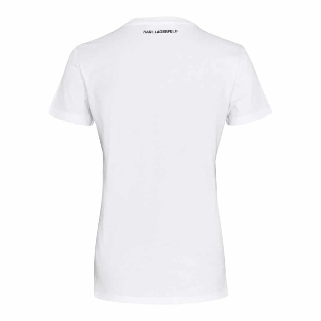 Karl Lagerfeld Ikonik T-Shirt Med Rhinsten
