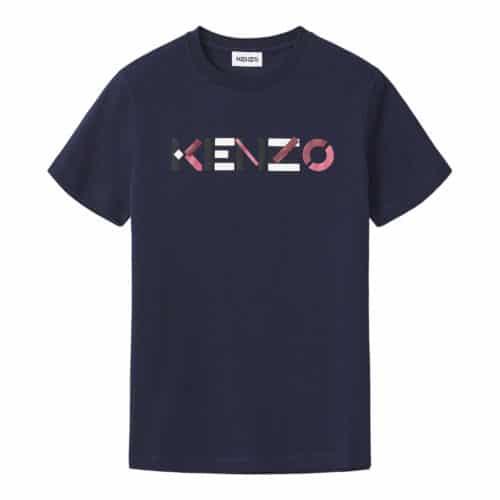Kenzo Blå Logo T-Shirt