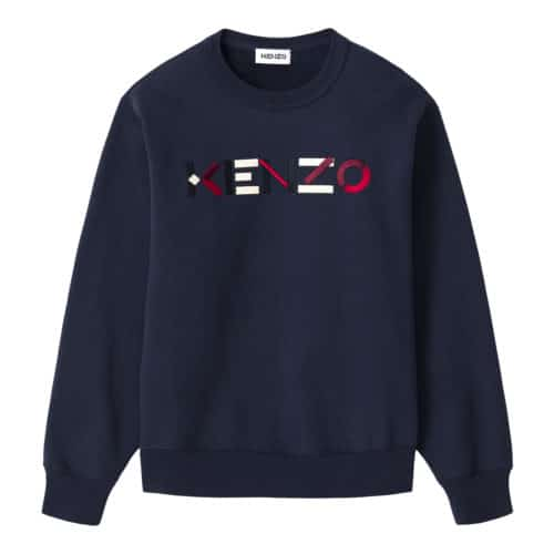 Kenzo Blå logo sweatshirt
