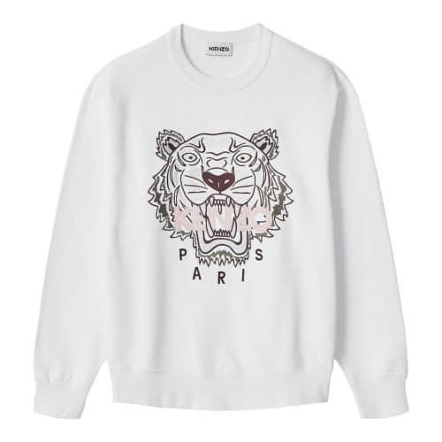 Kenzo Hvid Tiger Sweatshirt