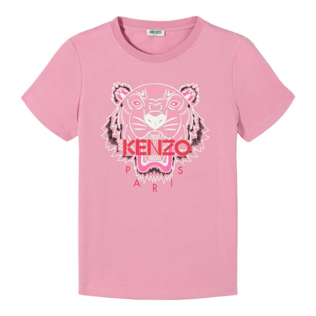 Kenzo Lyserød Tiger T-Shirt