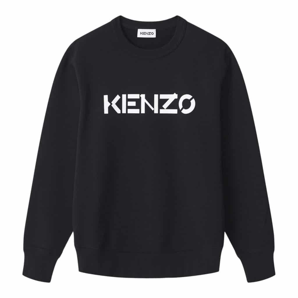 Kenzo Hvid Logo Sweatshirt
