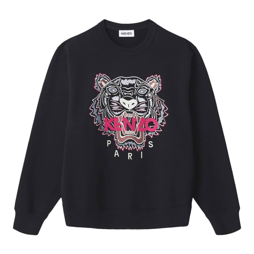 Kenzo Sort Tiger pink logo Sweatshirt
