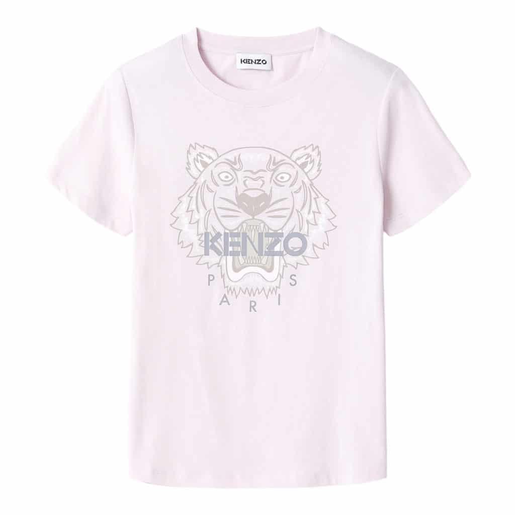 Kenzo Tiger Lyserød/Grå t-shirt