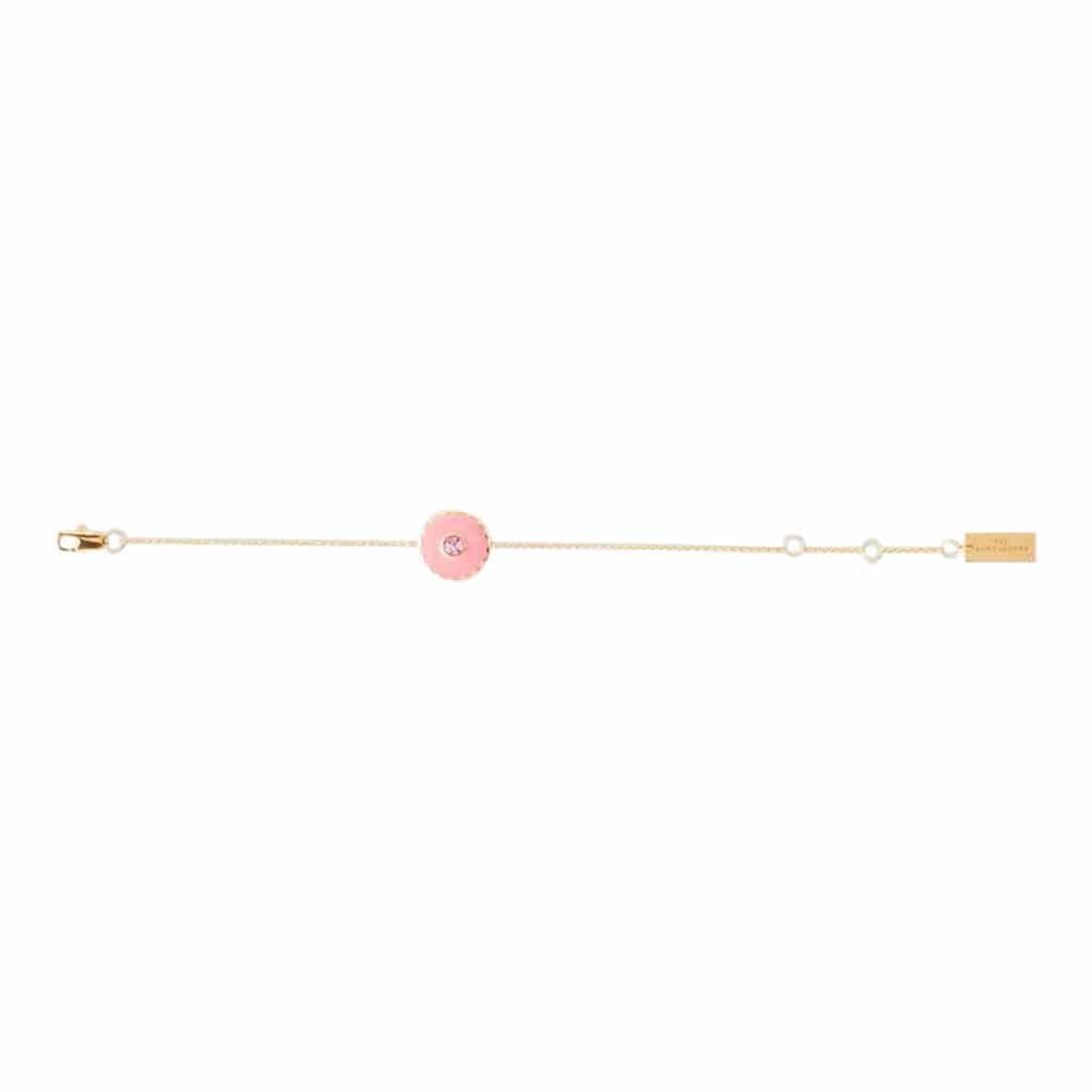 Marc Jacobs Medallion Armbånd Guld/Cream/Pink