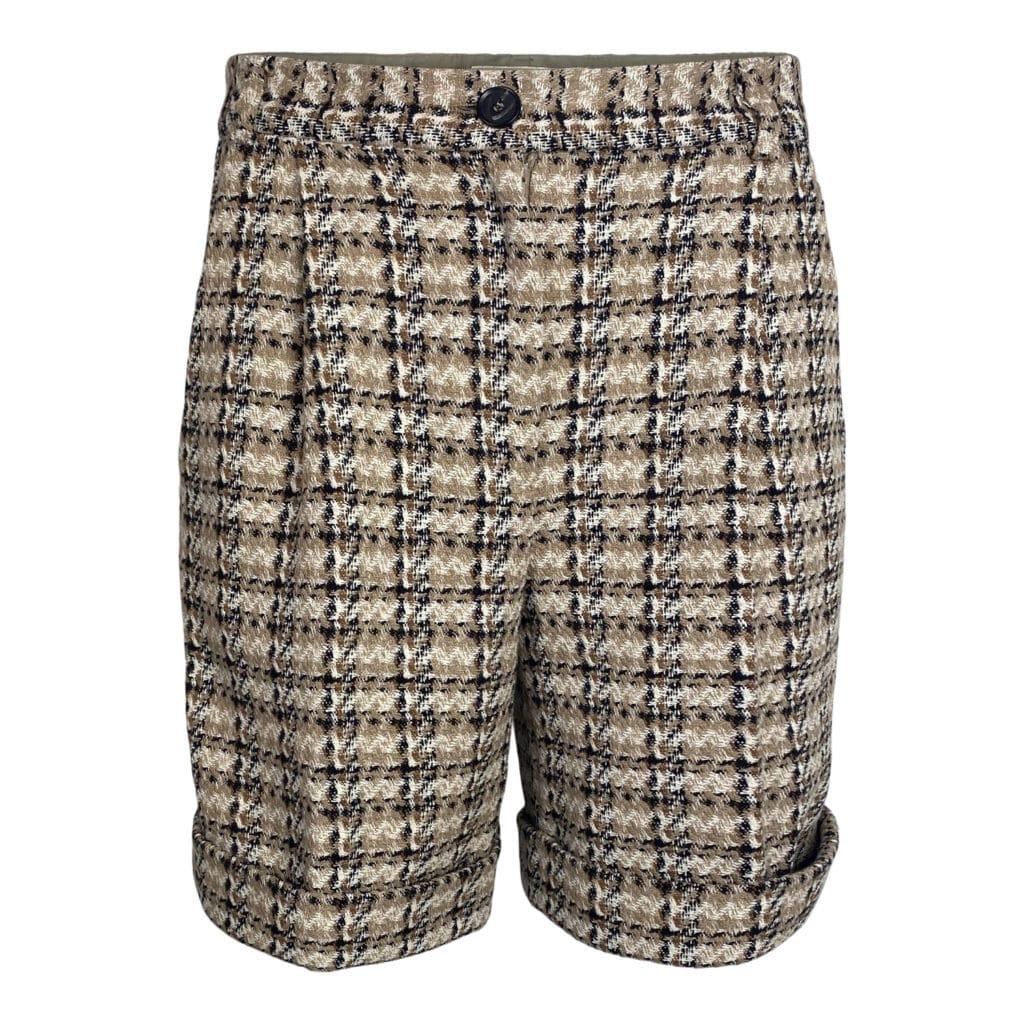 ELISE GUG Duster Check Shorts