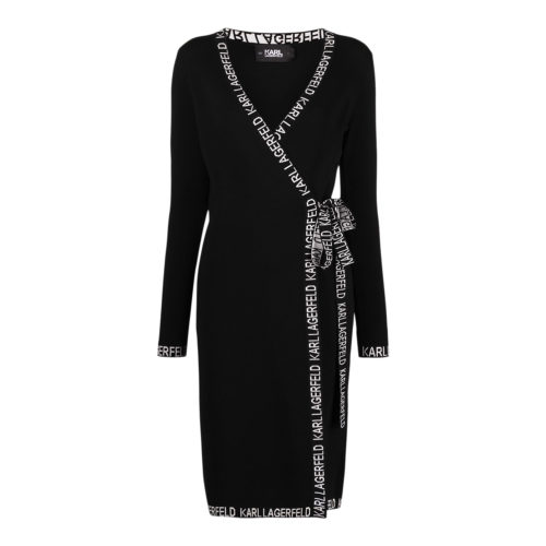 Karl Lagerfeld Slå-om-kjole