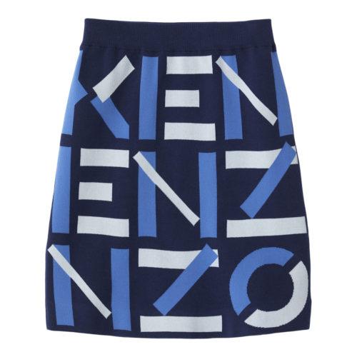 Kenzo Blå Monogram Nederdel