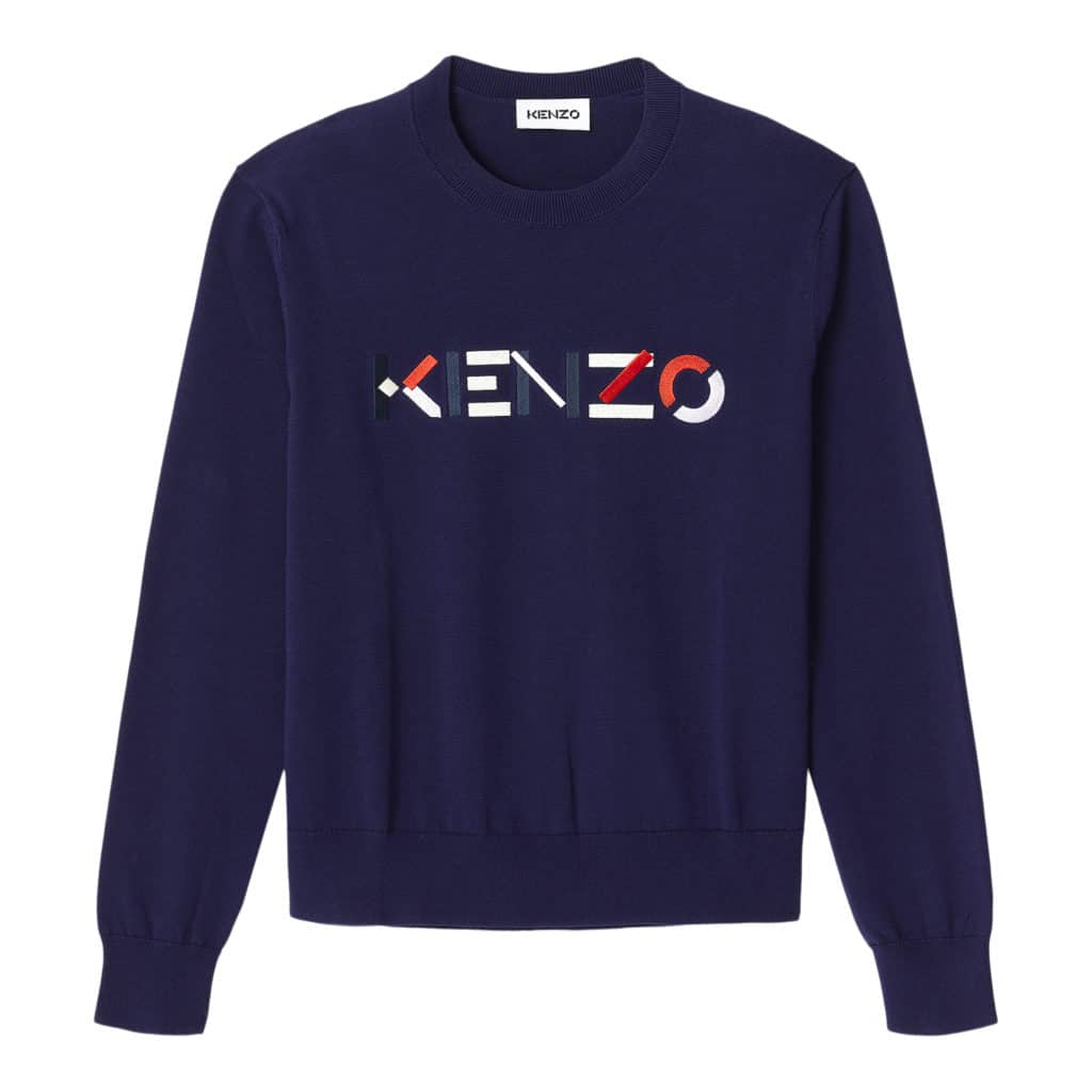 Kenzo Blå Logo Sweater