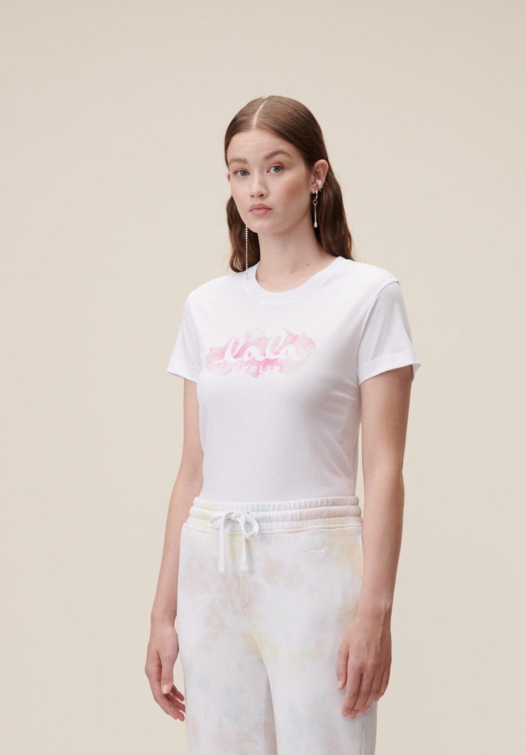 Lala Berlin Cara Aquarelle Pink T-shirt