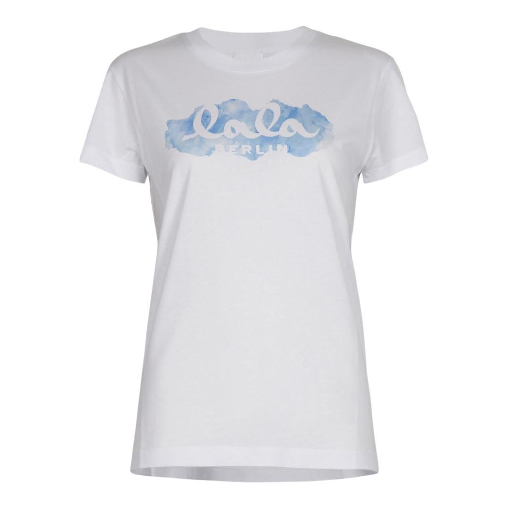 Lala Berlin Cara Aquarelle Blue T-shirt