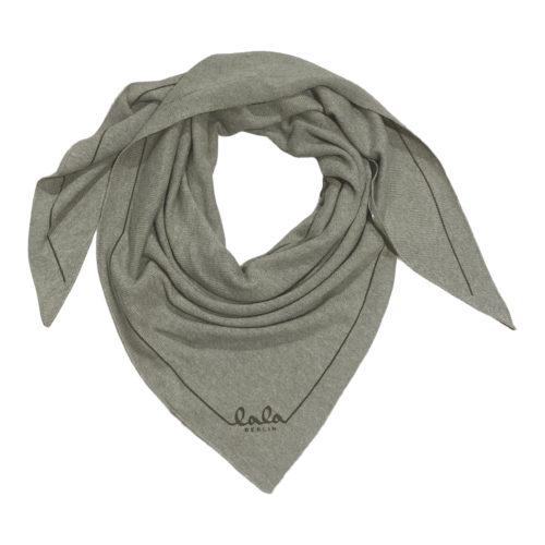 Lala Berlin Triangle Solid Logo Laurel Dark Tørklæde
