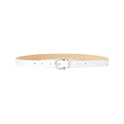 Polo Ralph Lauren Croco Stamped Hvid Bælte