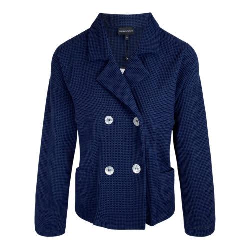Emporio Armani Blå Jersey Blazer