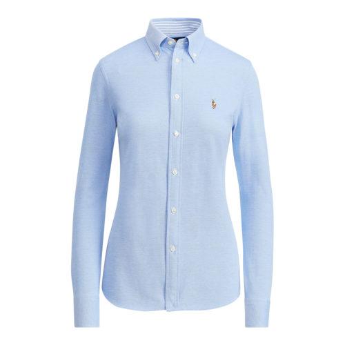 Polo Ralph Lauren Sheidi Skinny Carmel Blå Strik Skjorte