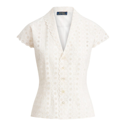 Polo Ralph Lauren Eyelet Bomulds Bluse