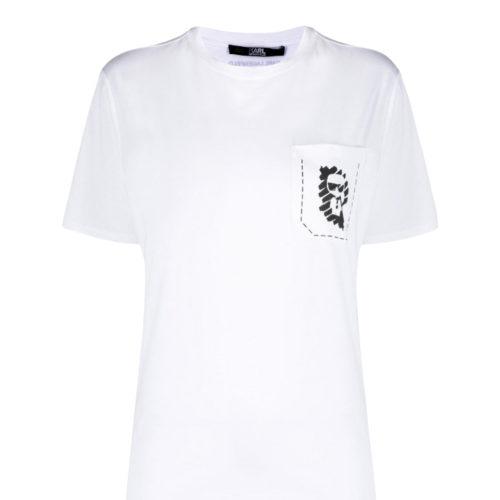 Karl Lagerfeld Graffiti Hvid T-shirt