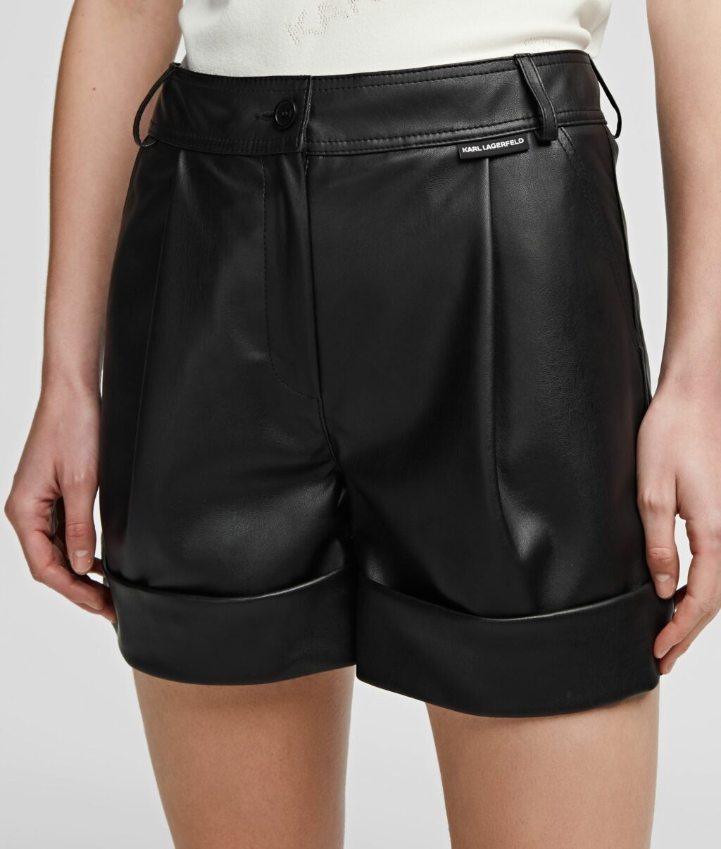 Karl Lagerfeld Øko Læder Shorts