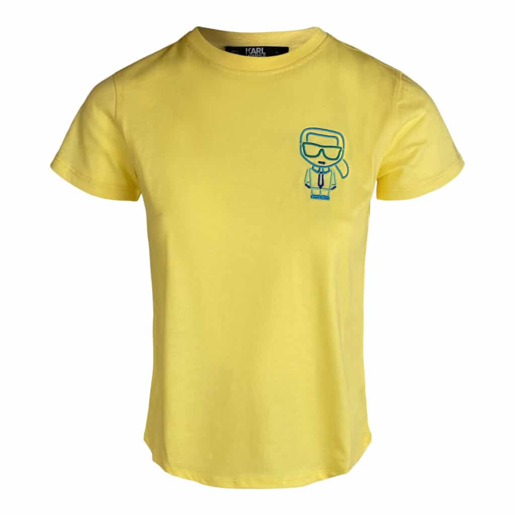 Karl Lagerfeld Gul outline t-shirt