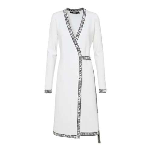 Karl Lagerfeld Hvid Wrap Kjole