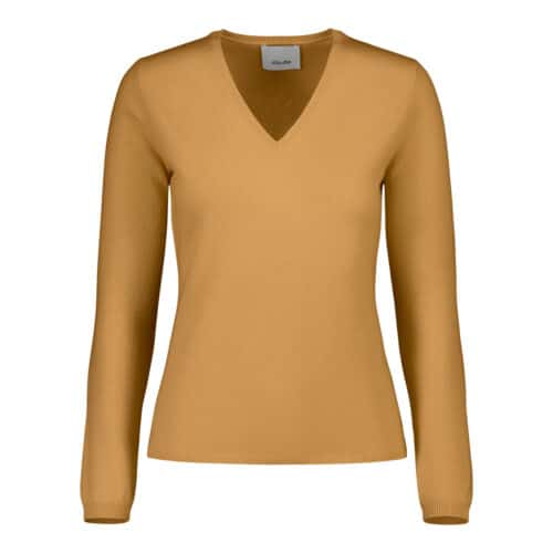 ALLUDE Cashmere V-hals Pastel Orange Sweater