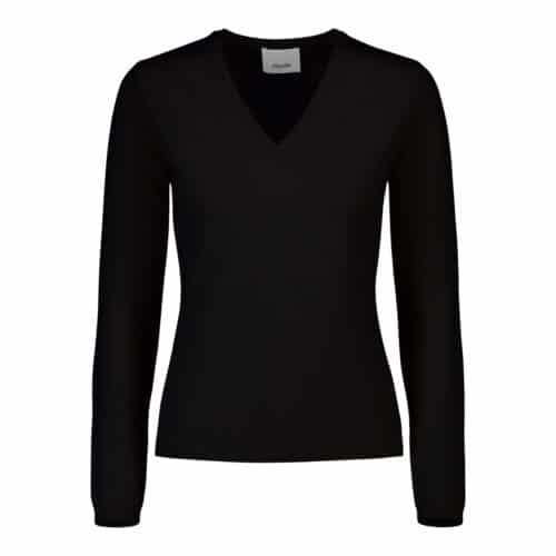 ALLUDE Cashmere V-hals Sort Sweater