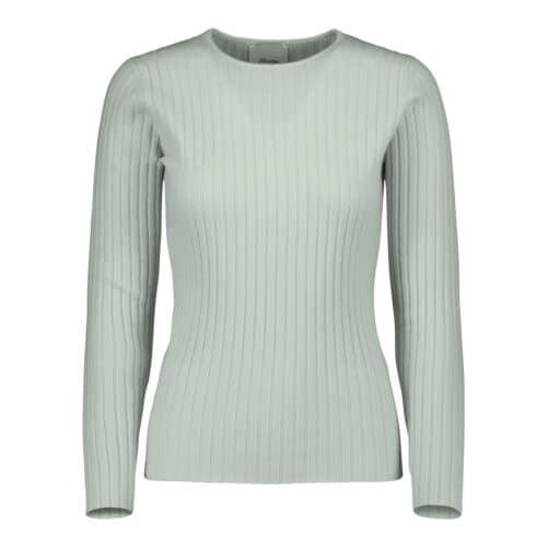 ALLUDE Cashmere Rib Pastel Mint Sweater