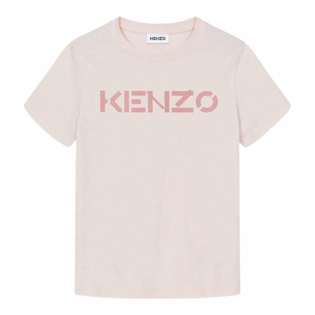 Kenzo Logo Faded Pink T-shirt