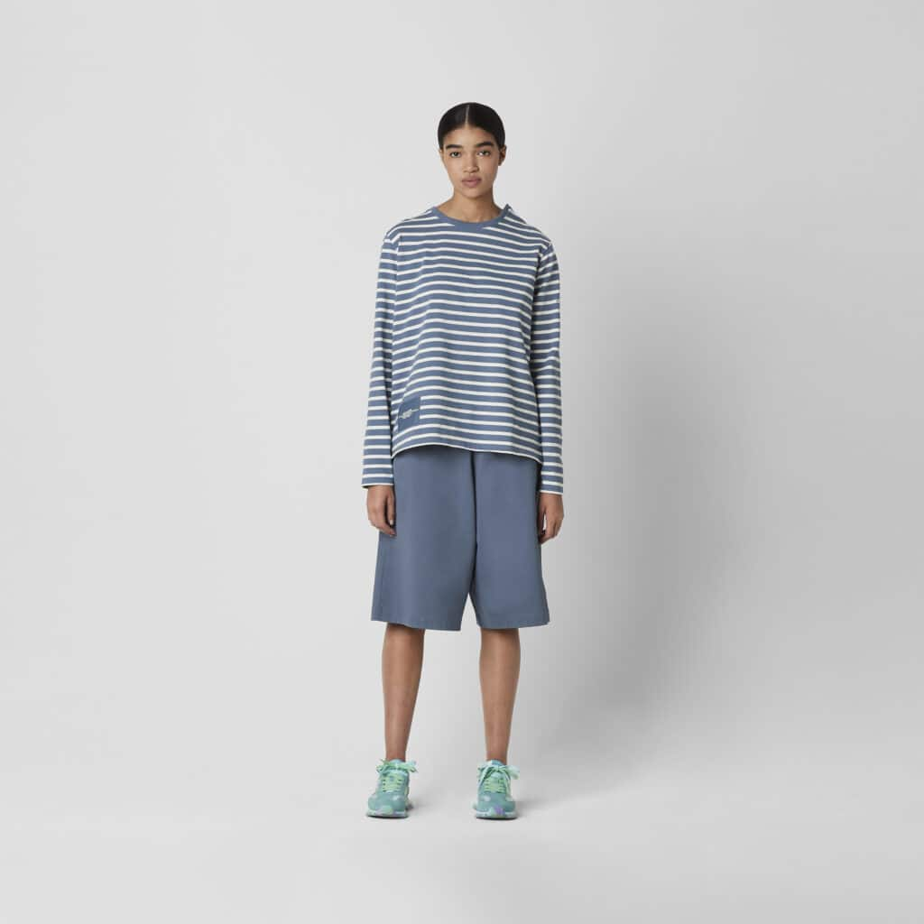 Marc Jacobs Blue Shadow Stribet Bluse