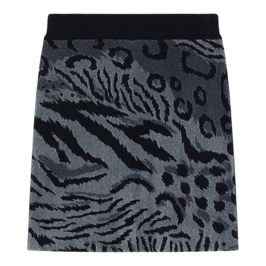 Kenzo Print Sort/grå Nederdel