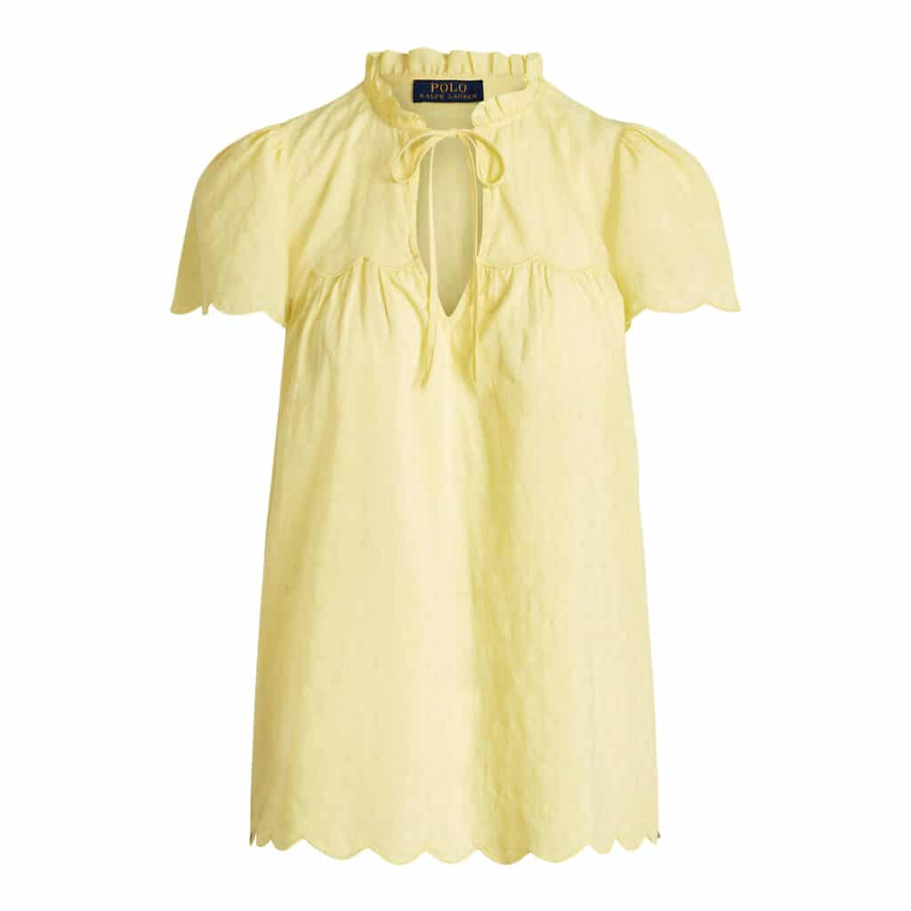 Polo Ralph Lauren Gul Bomulds Bluse