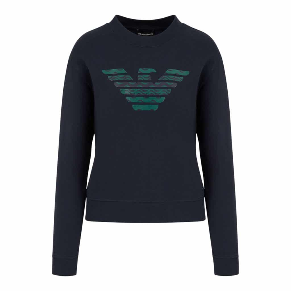 Armani Mørkeblå Jersey Sweater