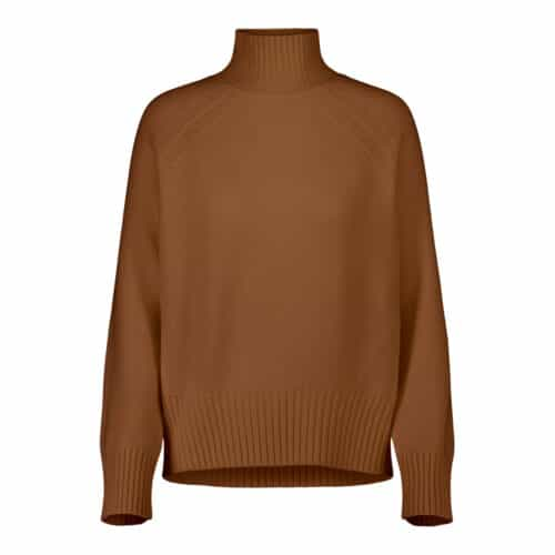 Allude Mockneck Brun Sweater
