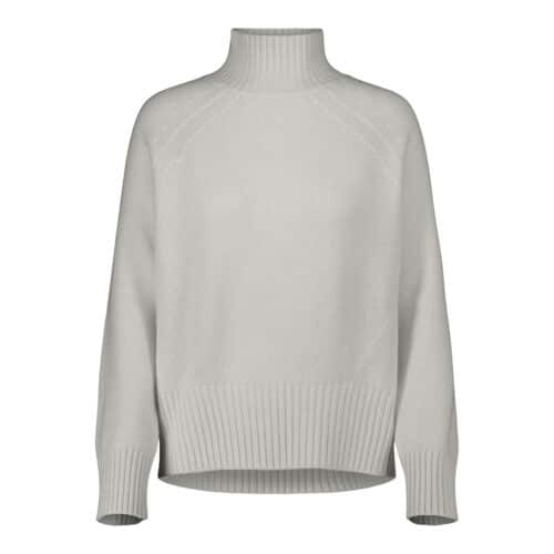 Allude Creme Mockneck Sweater