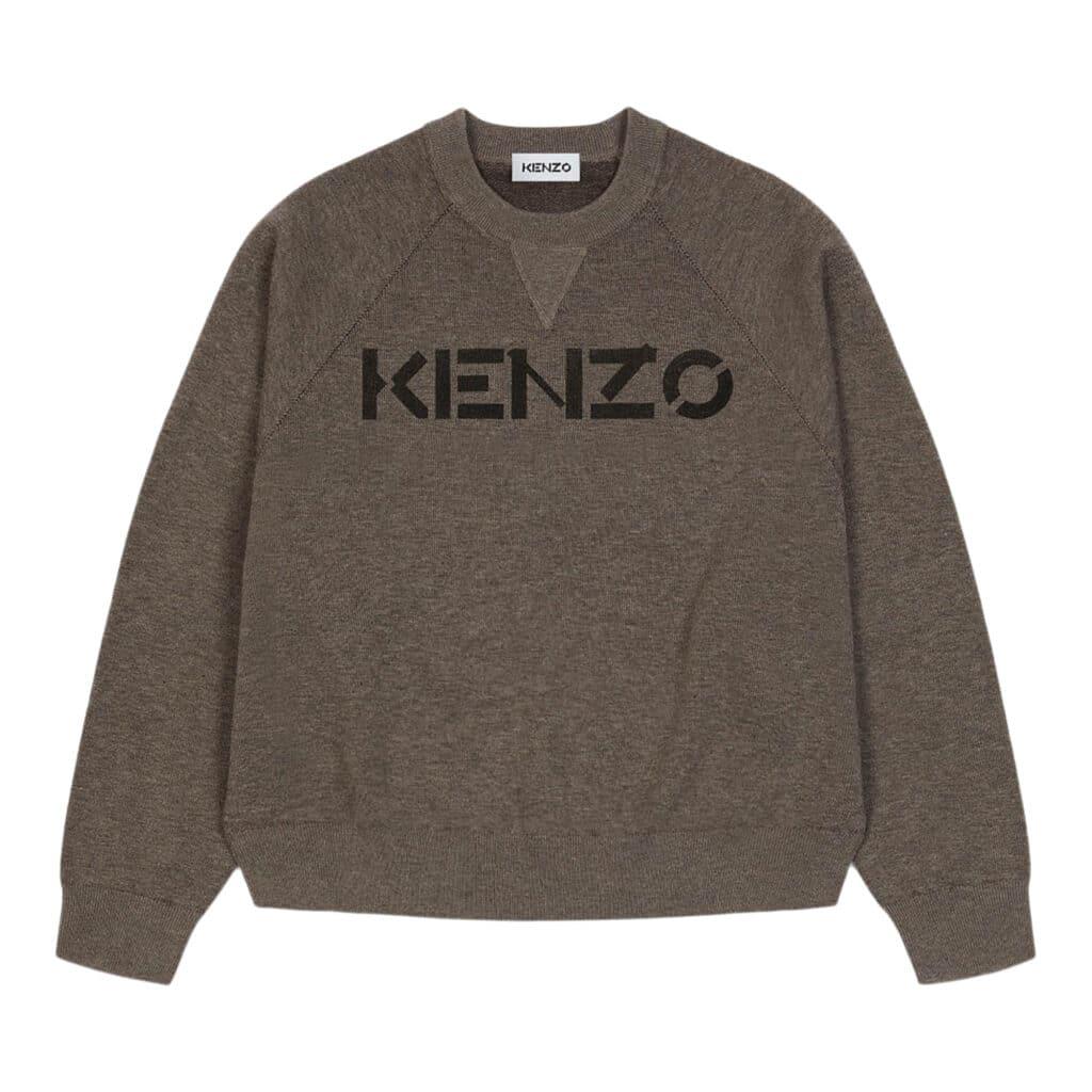 Kenzo Logo Pullover Brun