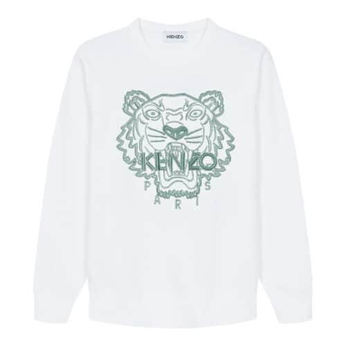 Kenzo Tiger Hvid Sweater